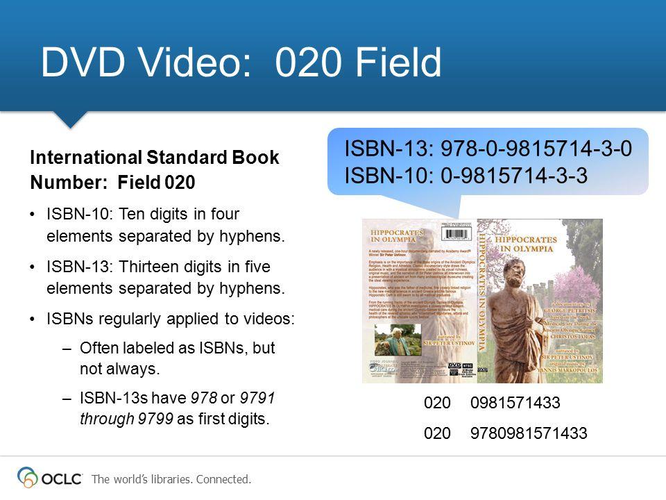 DVD Video: 020 Field ISBN-13: 978-0-9815714-3-0 ISBN-10: 0-9815714-3-3