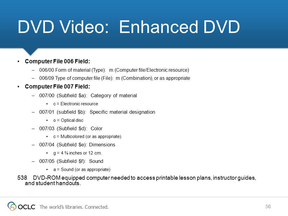 DVD Video: Enhanced DVD