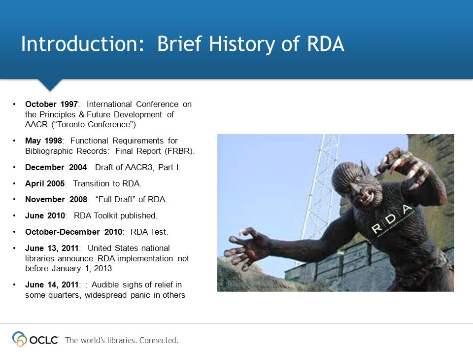 Introduction: Brief History of RDA
