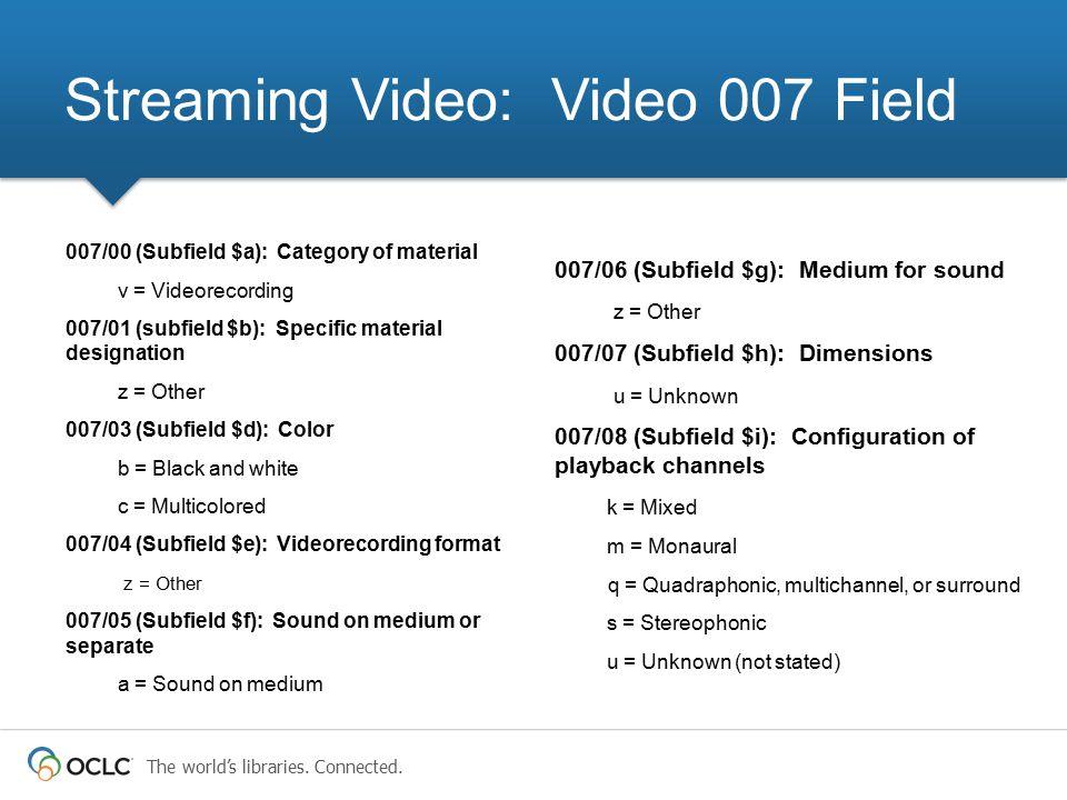 Streaming Video: Video 007 Field