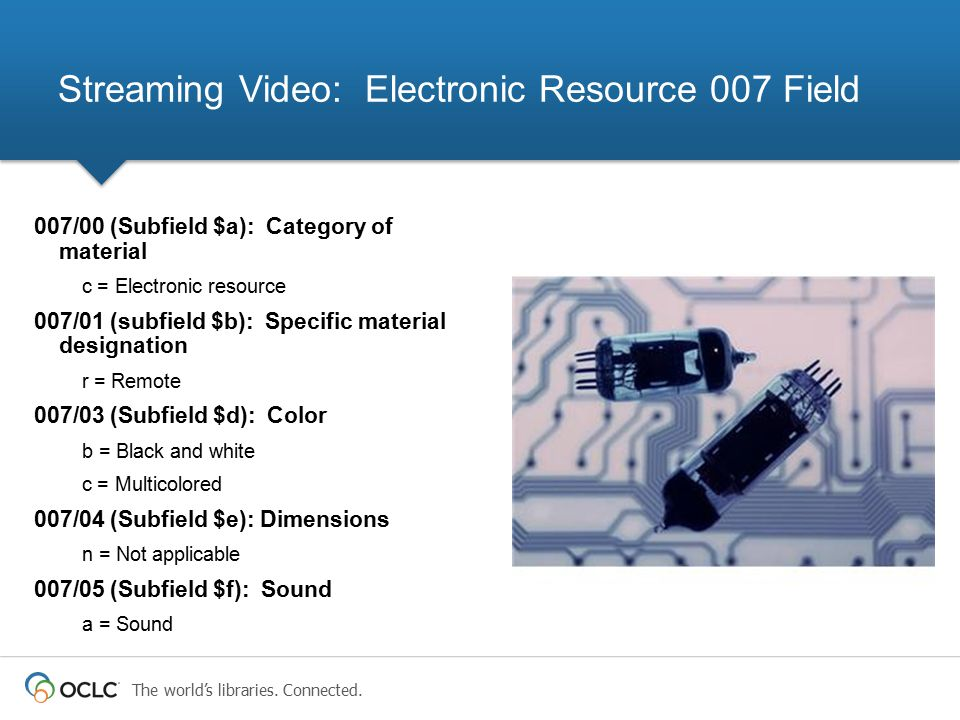 Streaming Video: Electronic Resource 007 Field