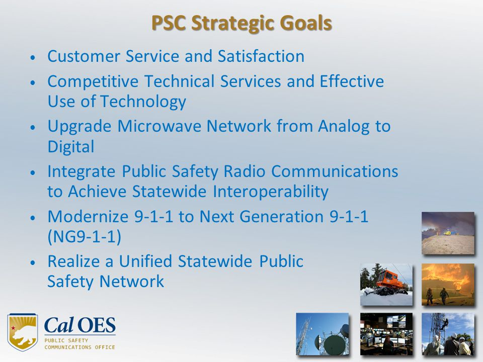 PSC Strategic Goals Customer Service and Satisfaction