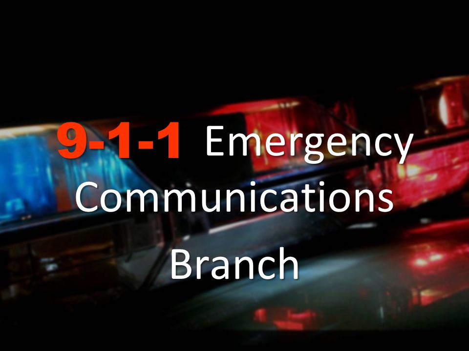 Emergency Communications Branch