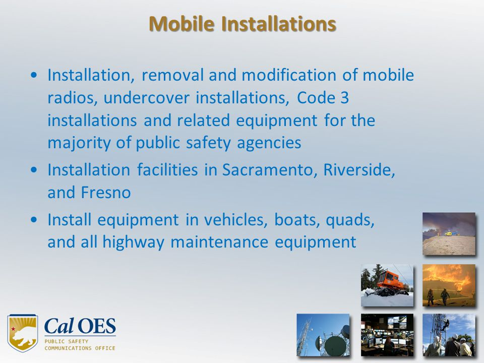 Mobile Installations