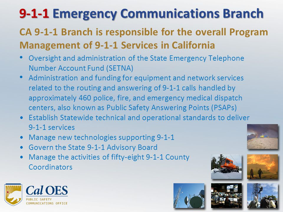 9-1-1 Emergency Communications Branch