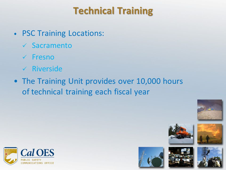 Technical Training PSC Training Locations: