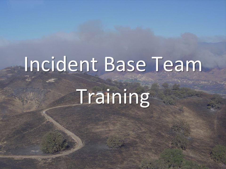 Incident Base Team Training