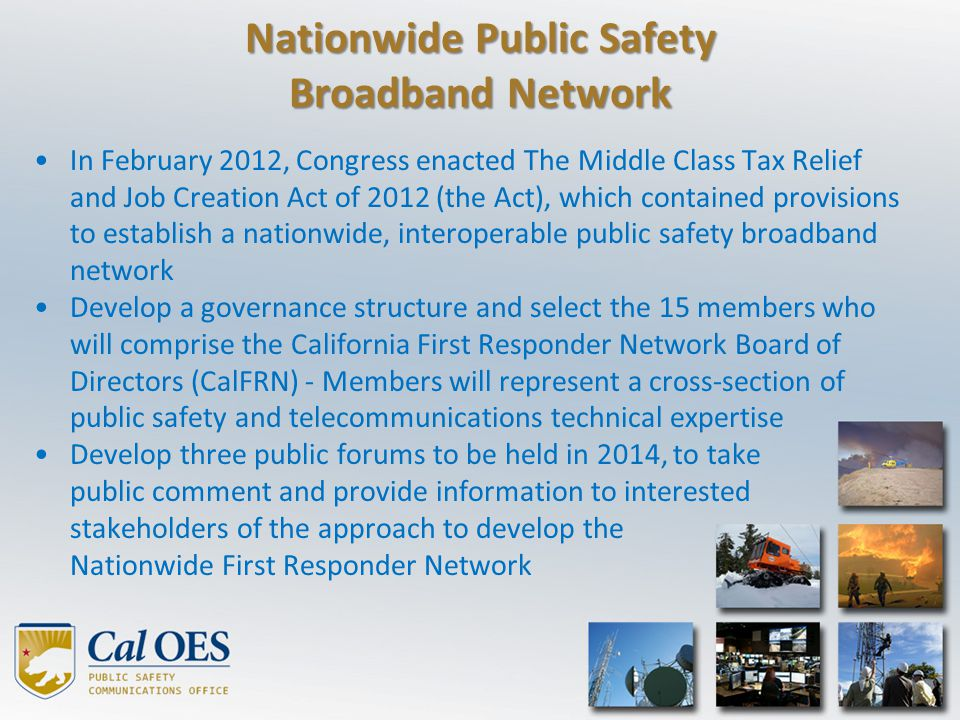 Nationwide Public Safety Broadband Network