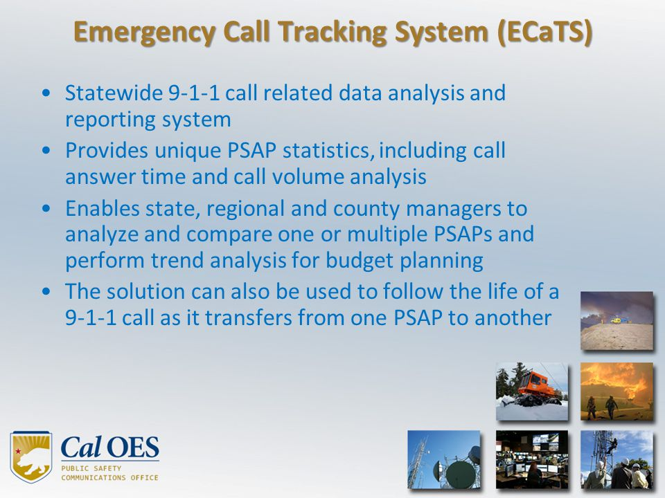 Emergency Call Tracking System (ECaTS)
