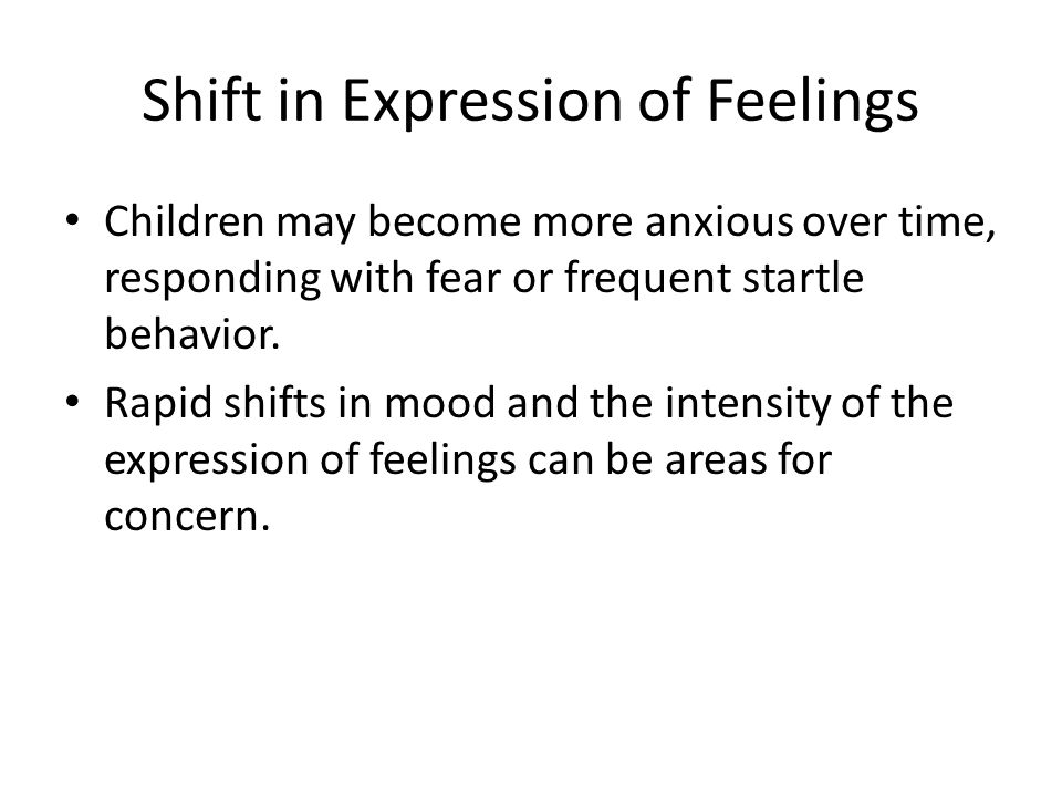 Shift in Expression of Feelings