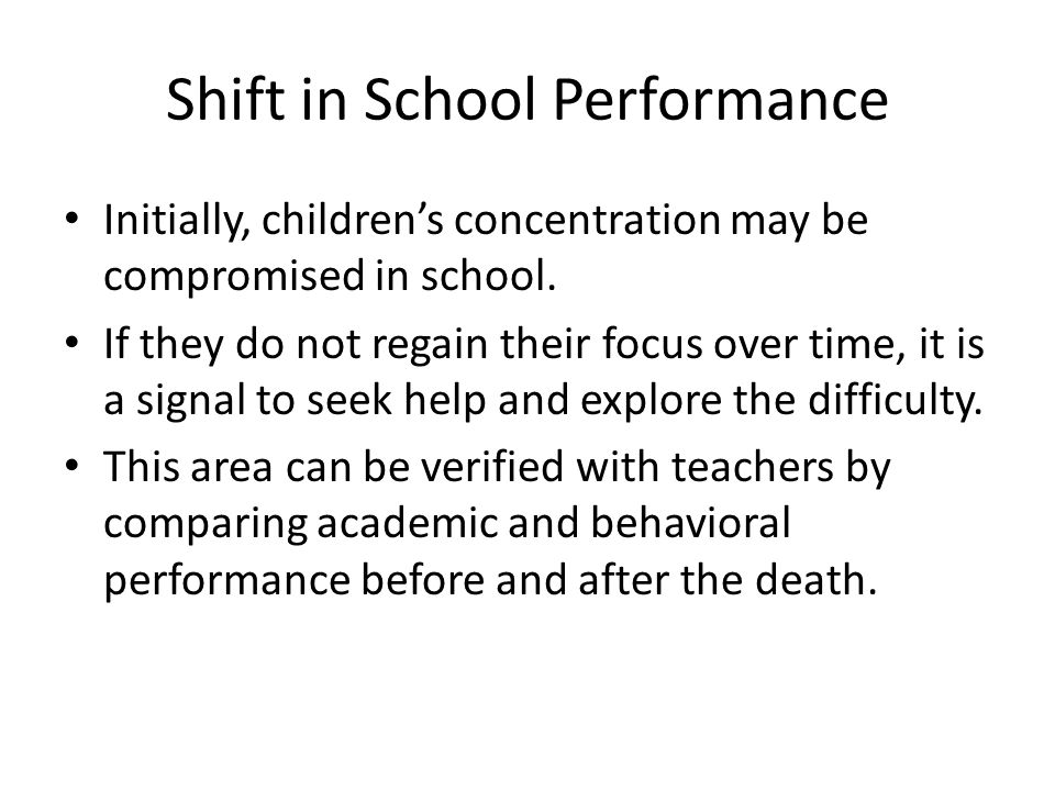 Shift in School Performance