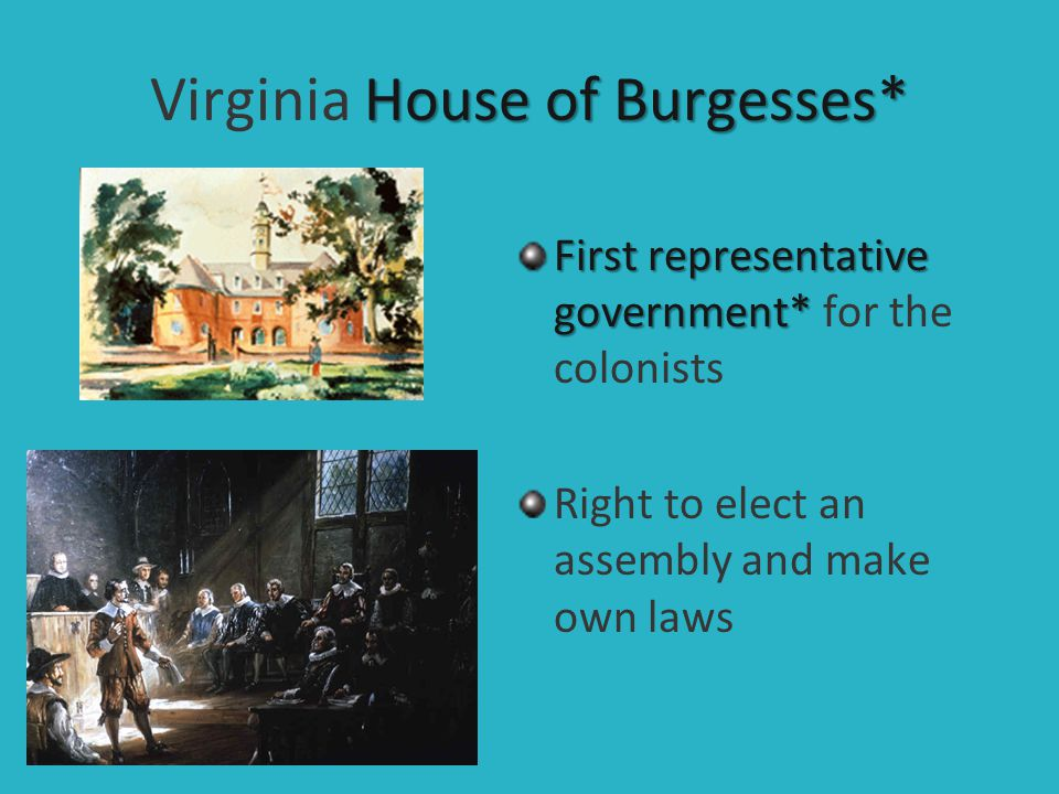 Virginia House of Burgesses*