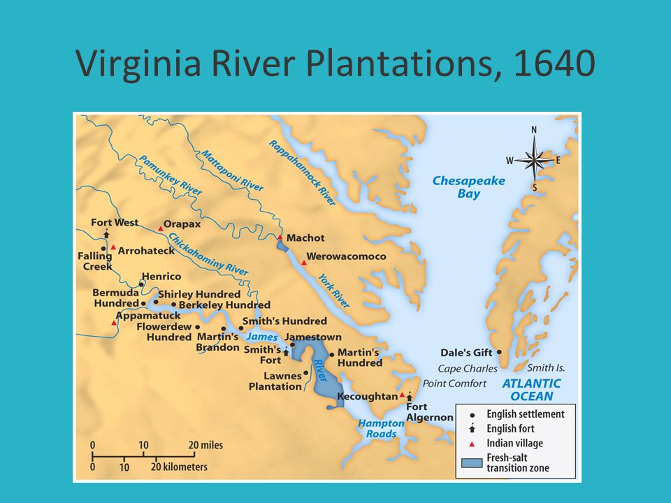 Virginia River Plantations, 1640