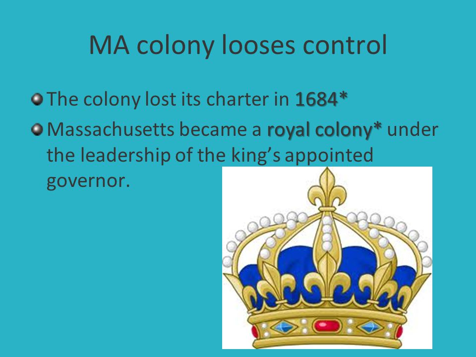 MA colony looses control