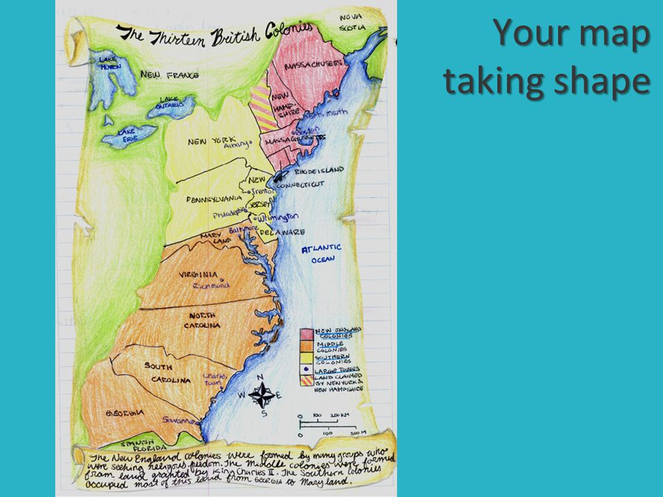 Label the following Great Lakes Original 13 colonies ppt video