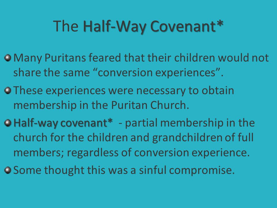 The Half-Way Covenant*