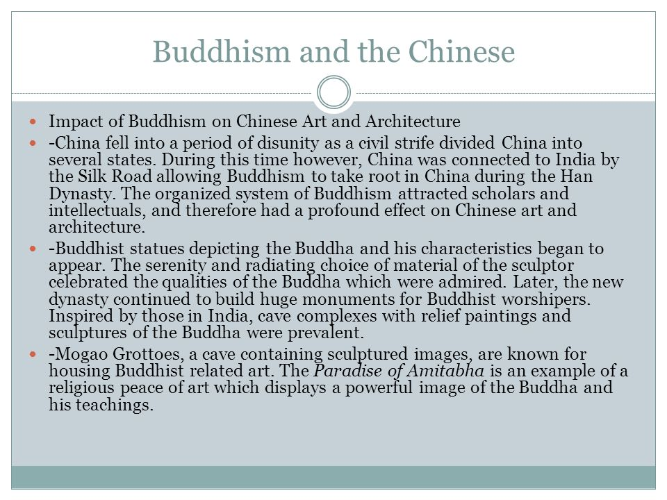 Buddhism and the Chinese