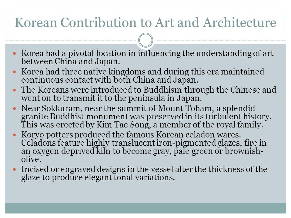 Korean Contribution to Art and Architecture
