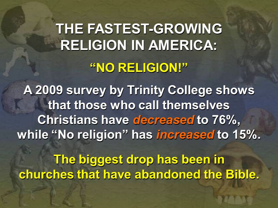 THE FASTEST-GROWING RELIGION IN AMERICA: