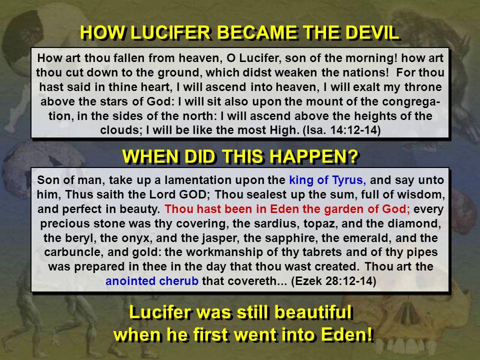HOW LUCIFER BECAME THE DEVIL