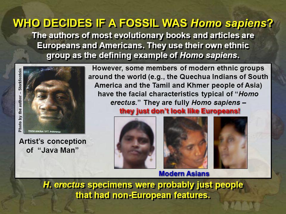 WHO DECIDES IF A FOSSIL WAS Homo sapiens