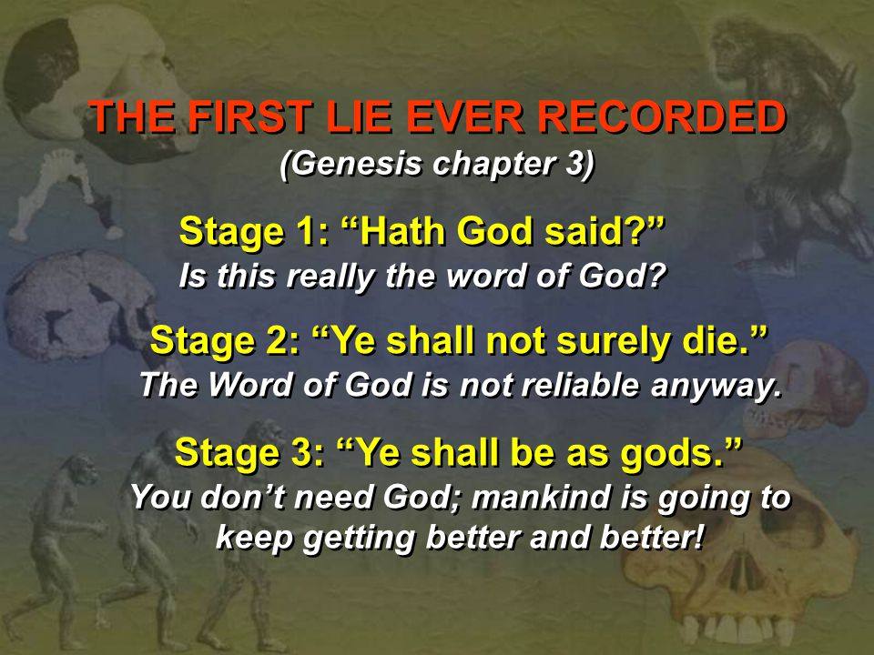 THE FIRST LIE EVER RECORDED