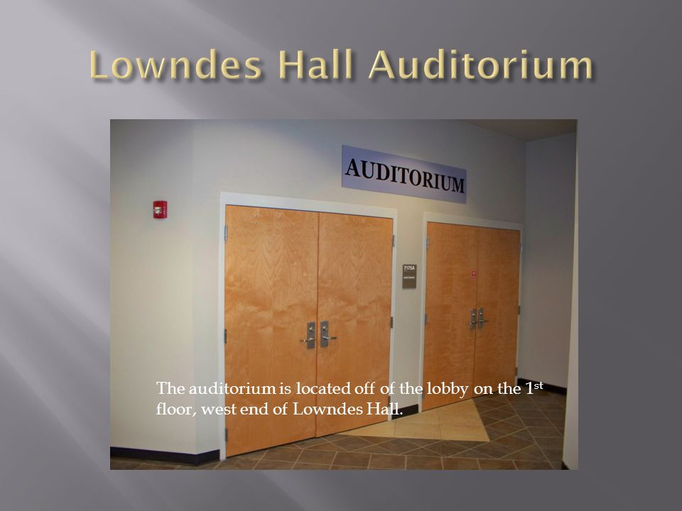 Lowndes Hall Auditorium