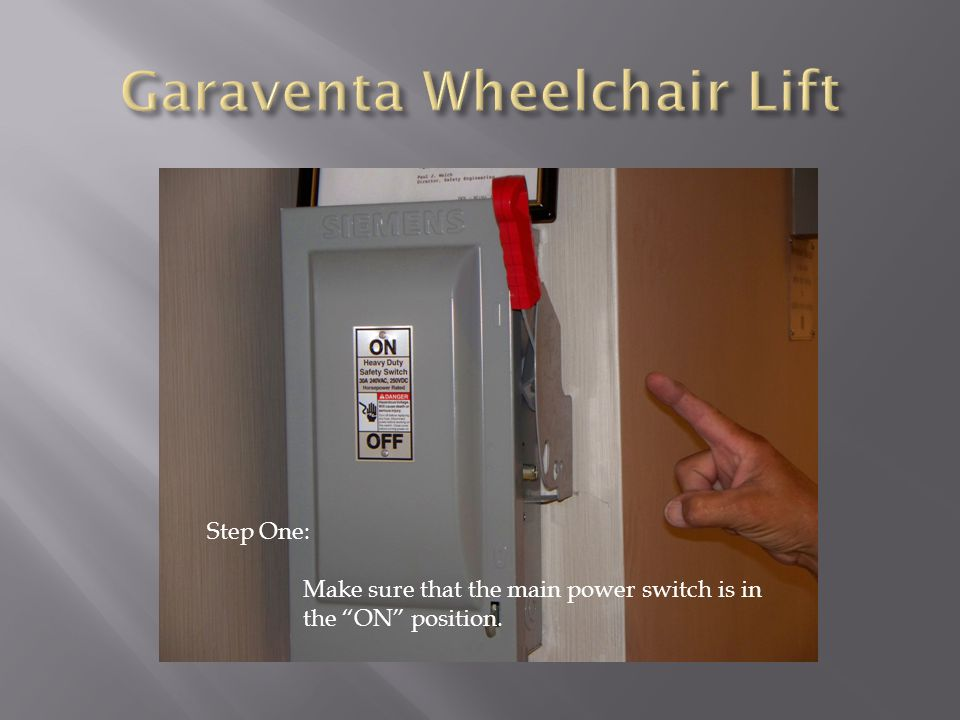 Wheelchair lift training ppt video online download for Garaventa lift