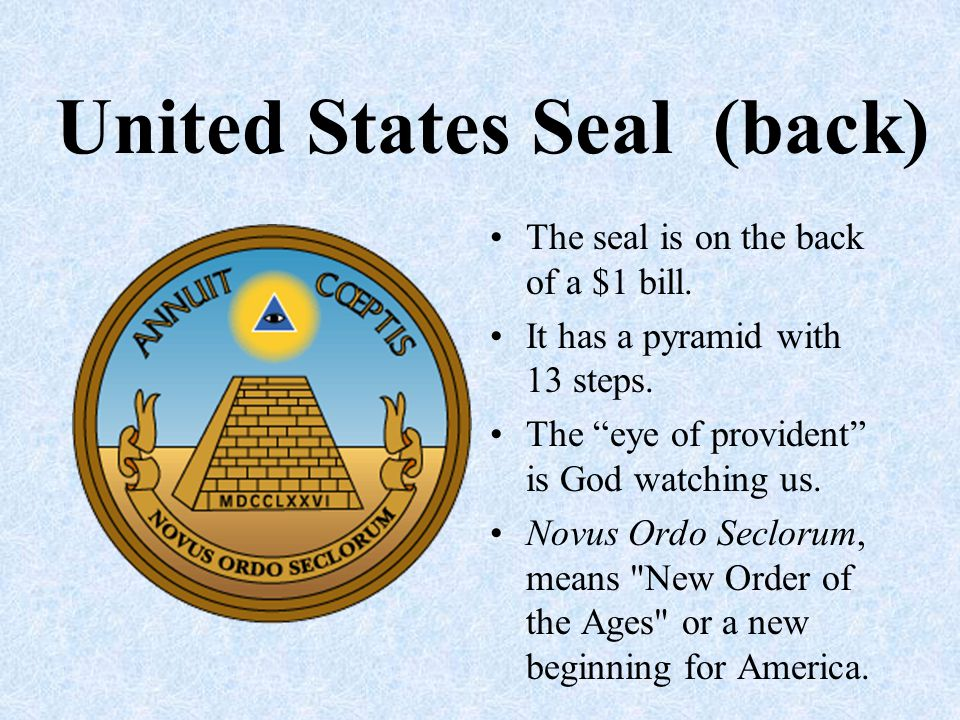 United States Seal (back)