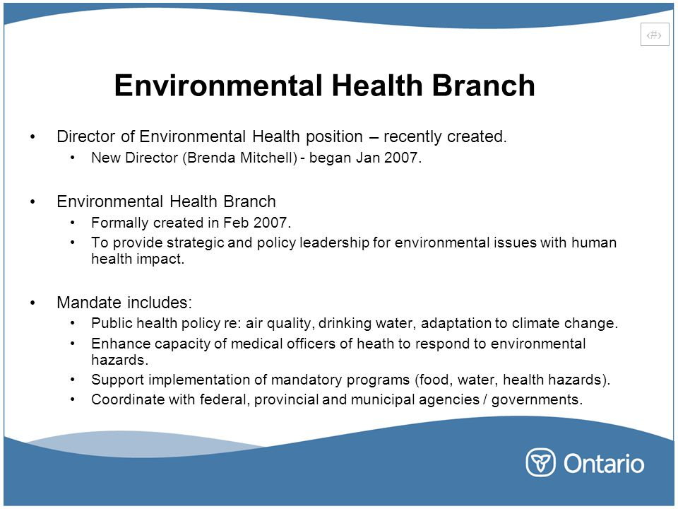 Environmental Health Branch