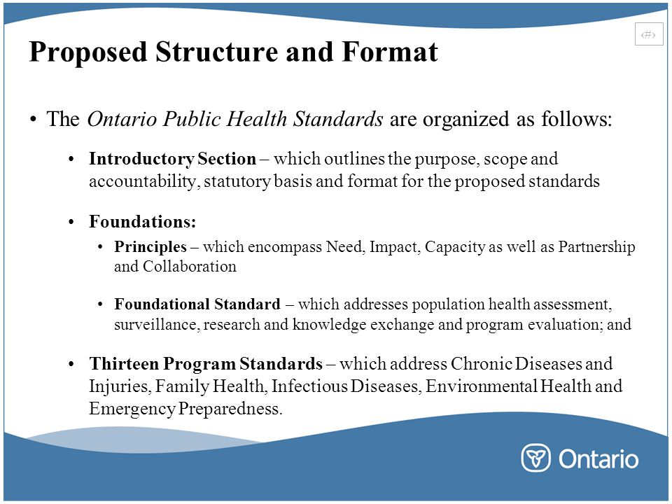 Proposed Structure and Format