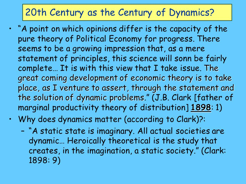 20th Century as the Century of Dynamics