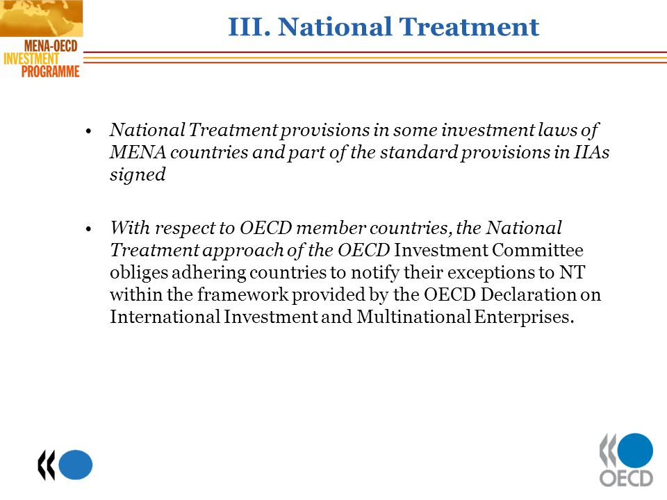 III. National Treatment