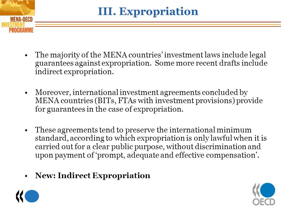 III. Expropriation