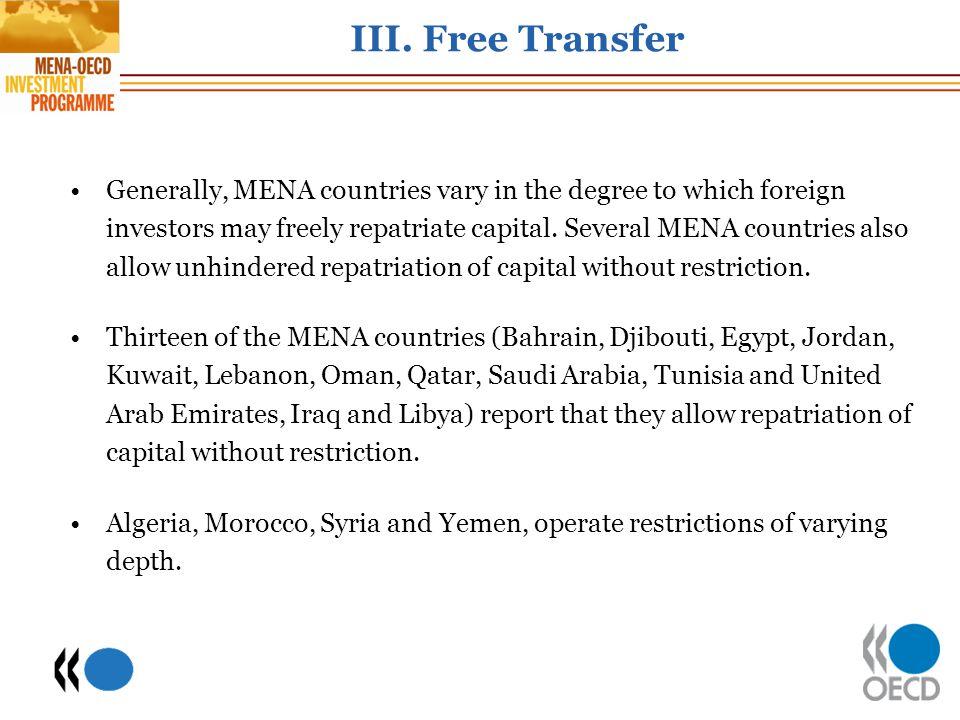 III. Free Transfer