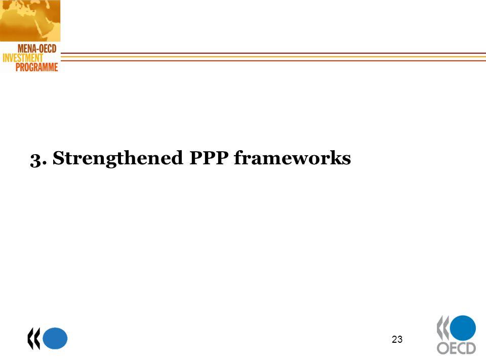 3. Strengthened PPP frameworks