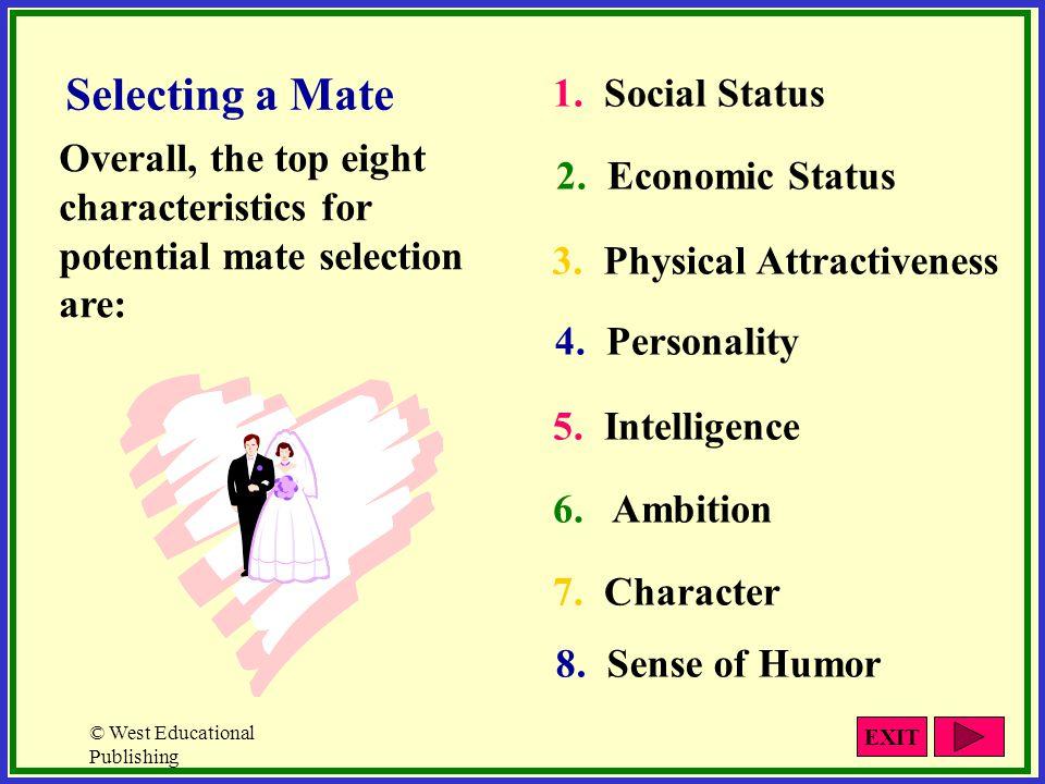 Selecting a Mate 1. Social Status