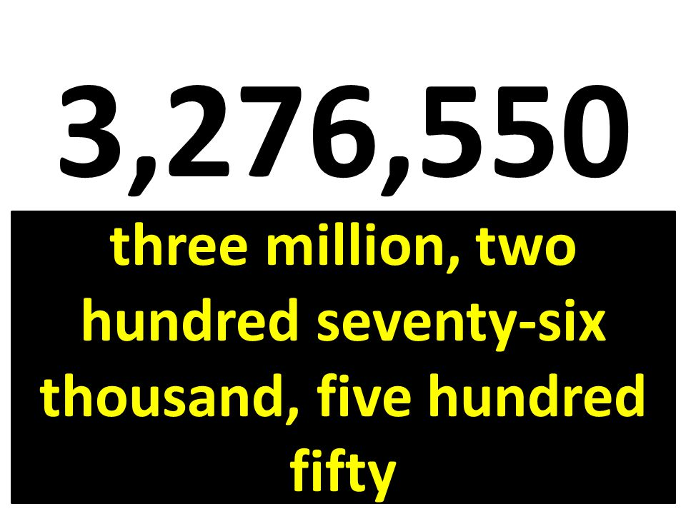 three million, two hundred seventy-six thousand, five hundred fifty