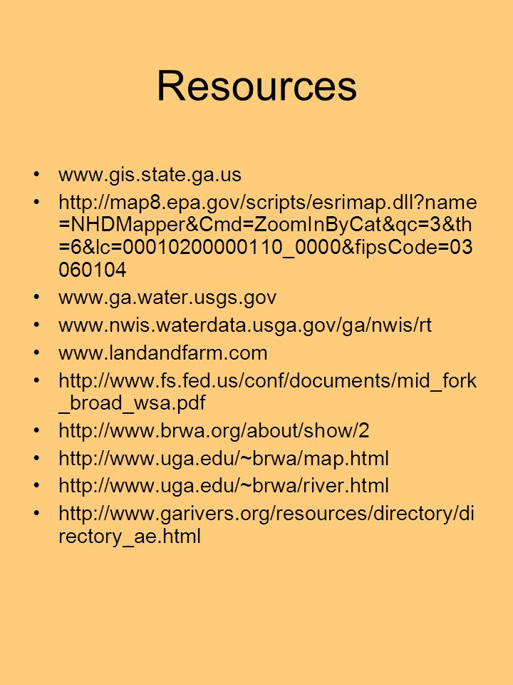 Resources www.gis.state.ga.us
