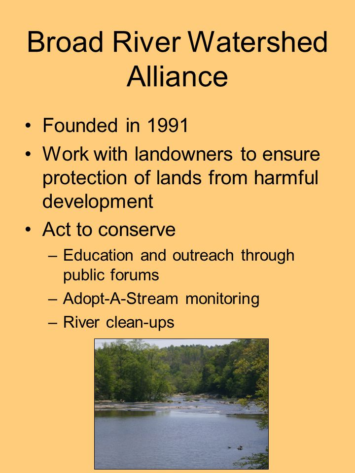 Broad River Watershed Alliance