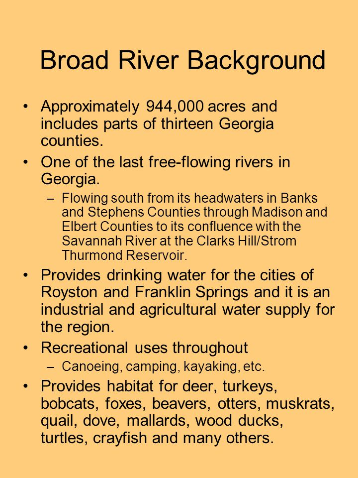 Broad River Background