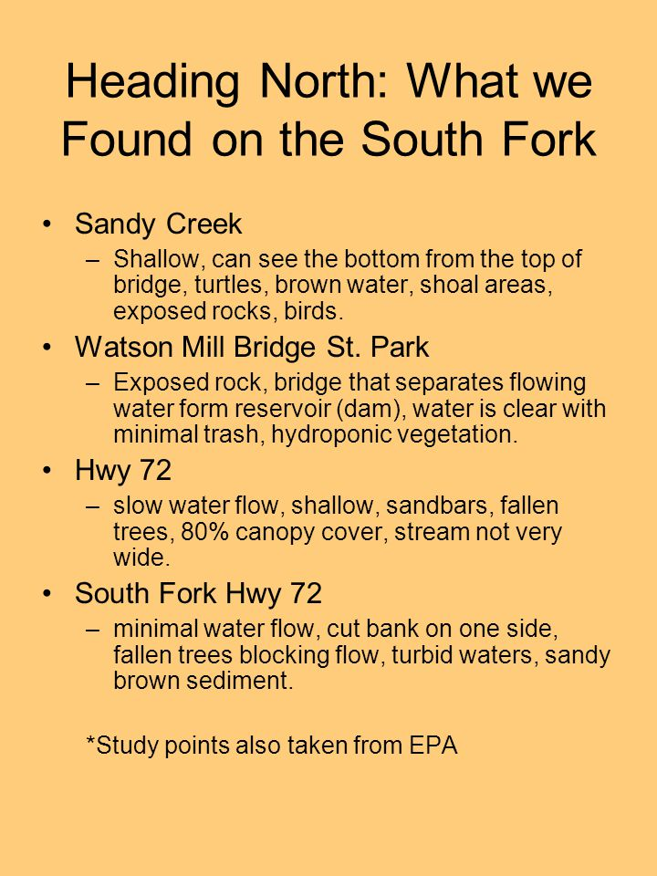 Heading North: What we Found on the South Fork