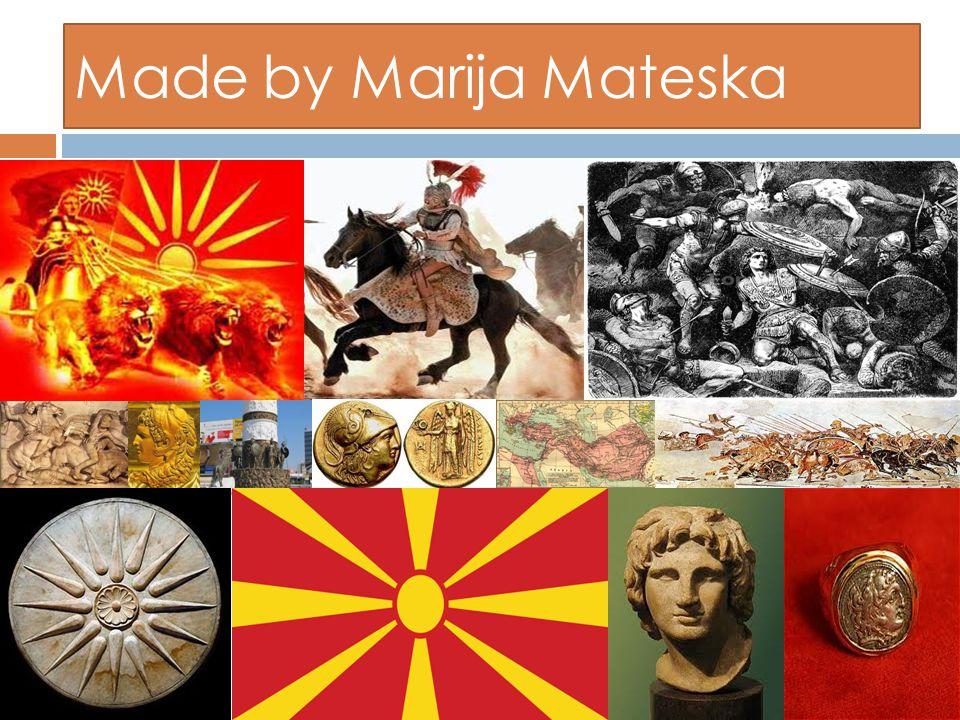 Made by Marija Mateska