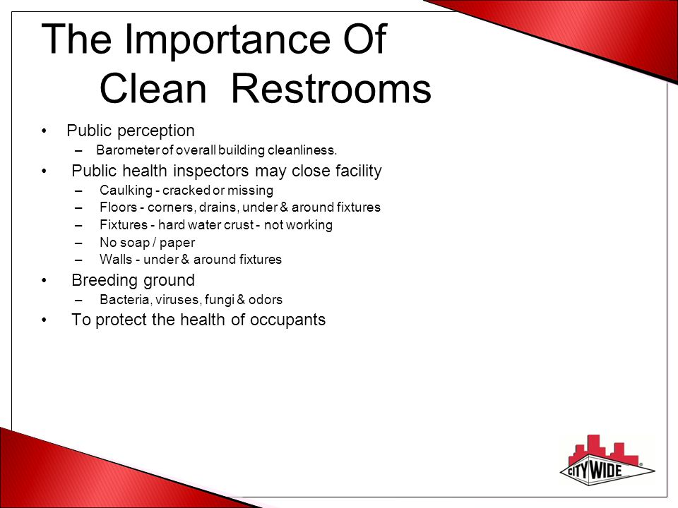 The Importance Of Clean Restrooms