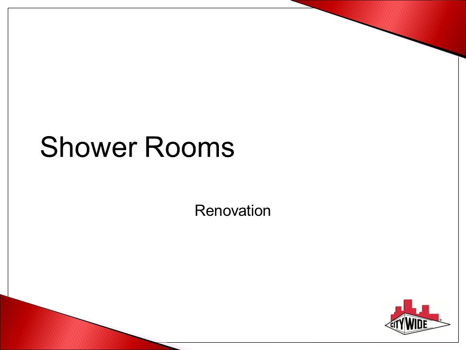 Shower Rooms Renovation