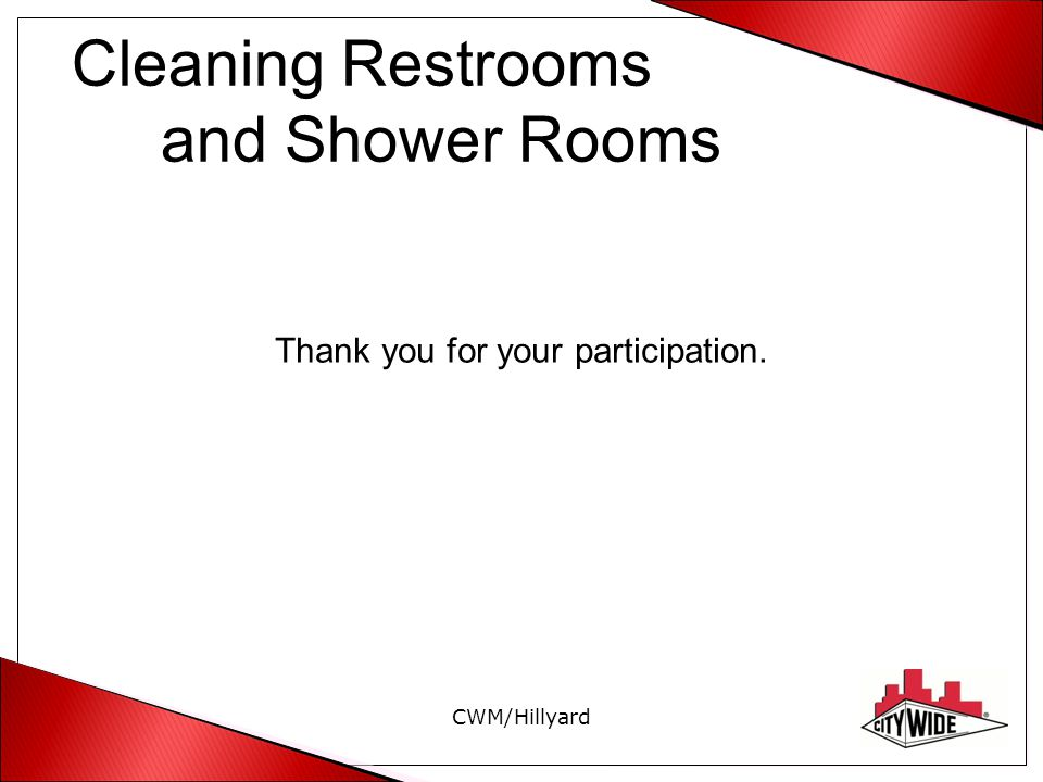 Cleaning Restrooms and Shower Rooms