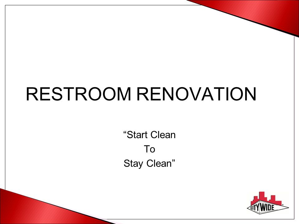 Start Clean To Stay Clean