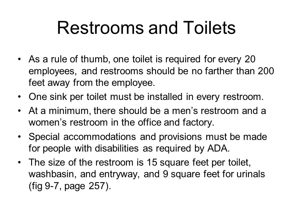 Restrooms and Toilets