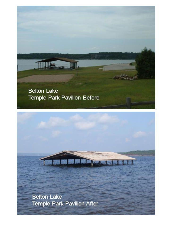 Belton Lake Temple Park Pavilion Before Belton Lake Temple Park Pavilion After
