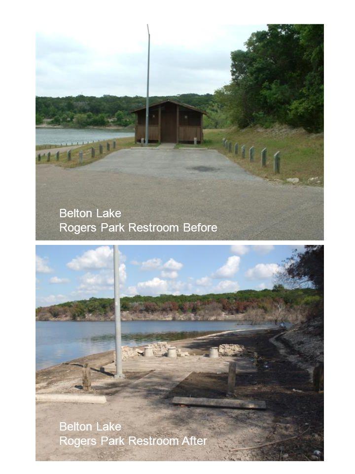 Belton Lake Rogers Park Restroom Before Belton Lake Rogers Park Restroom After